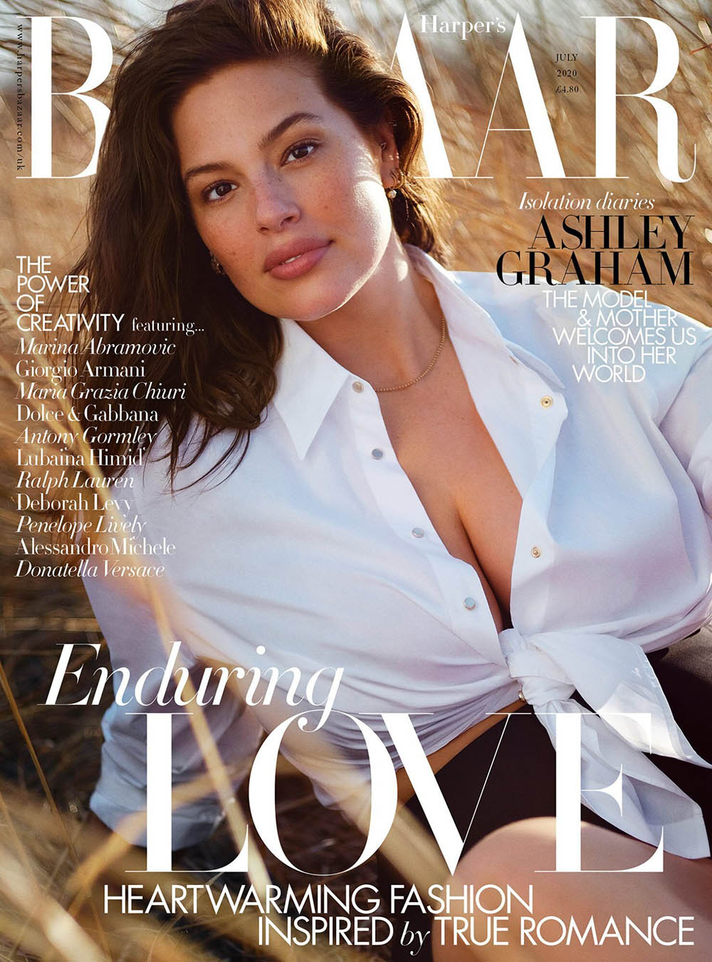 Ashley Graham covers Harper's Bazaar UK July 2020 by Justin ErvinAshley Graham covers Harper's Bazaar UK July 2020 by Justin Ervin