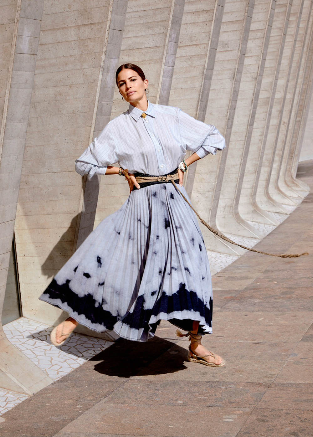 Cameron Russell by Nadia Sarwar for Elle UK July 2020
