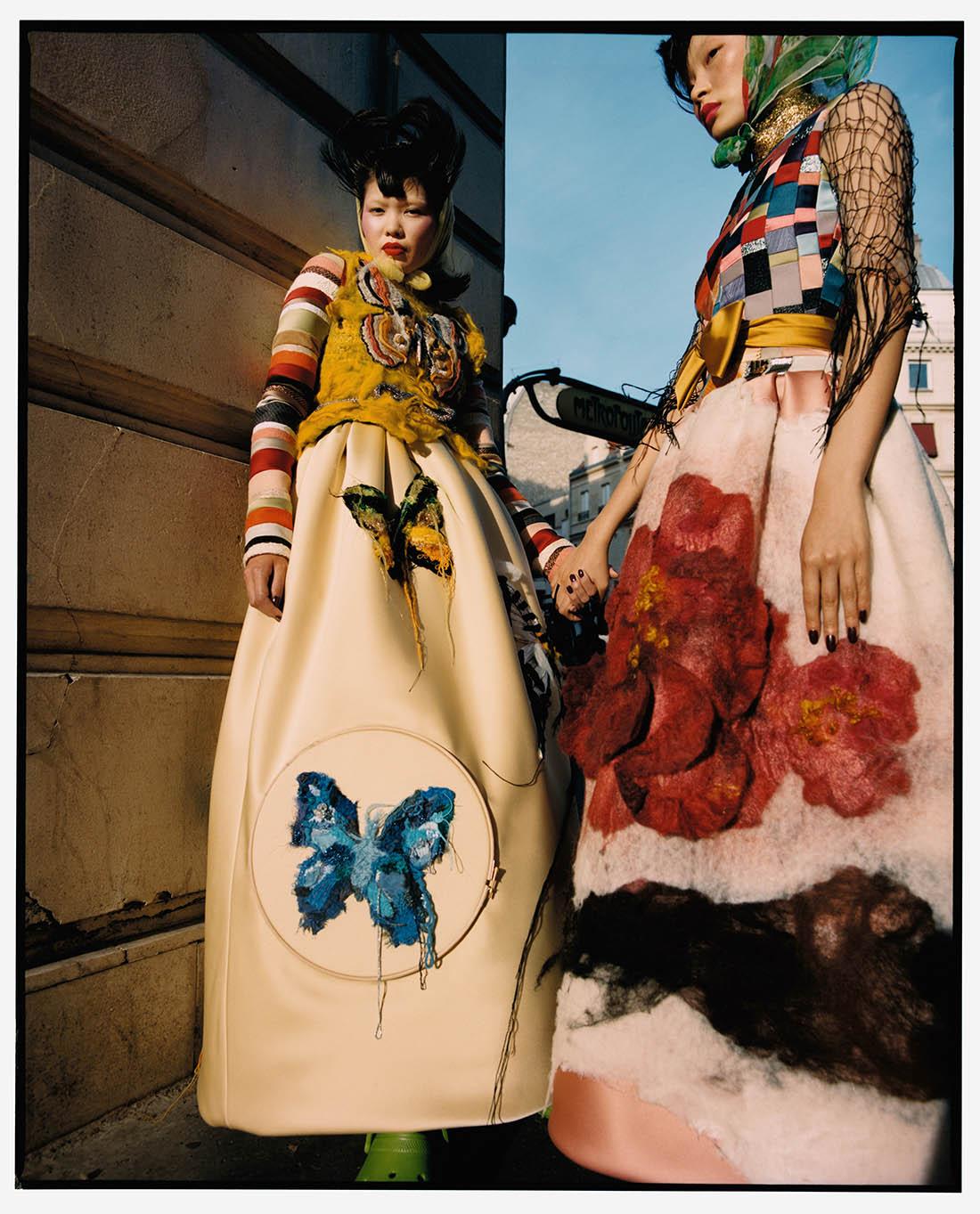 Chen Xue and Manami Kinoshita by Nadine Ijewere for Garage Magazine Fall Winter 2019