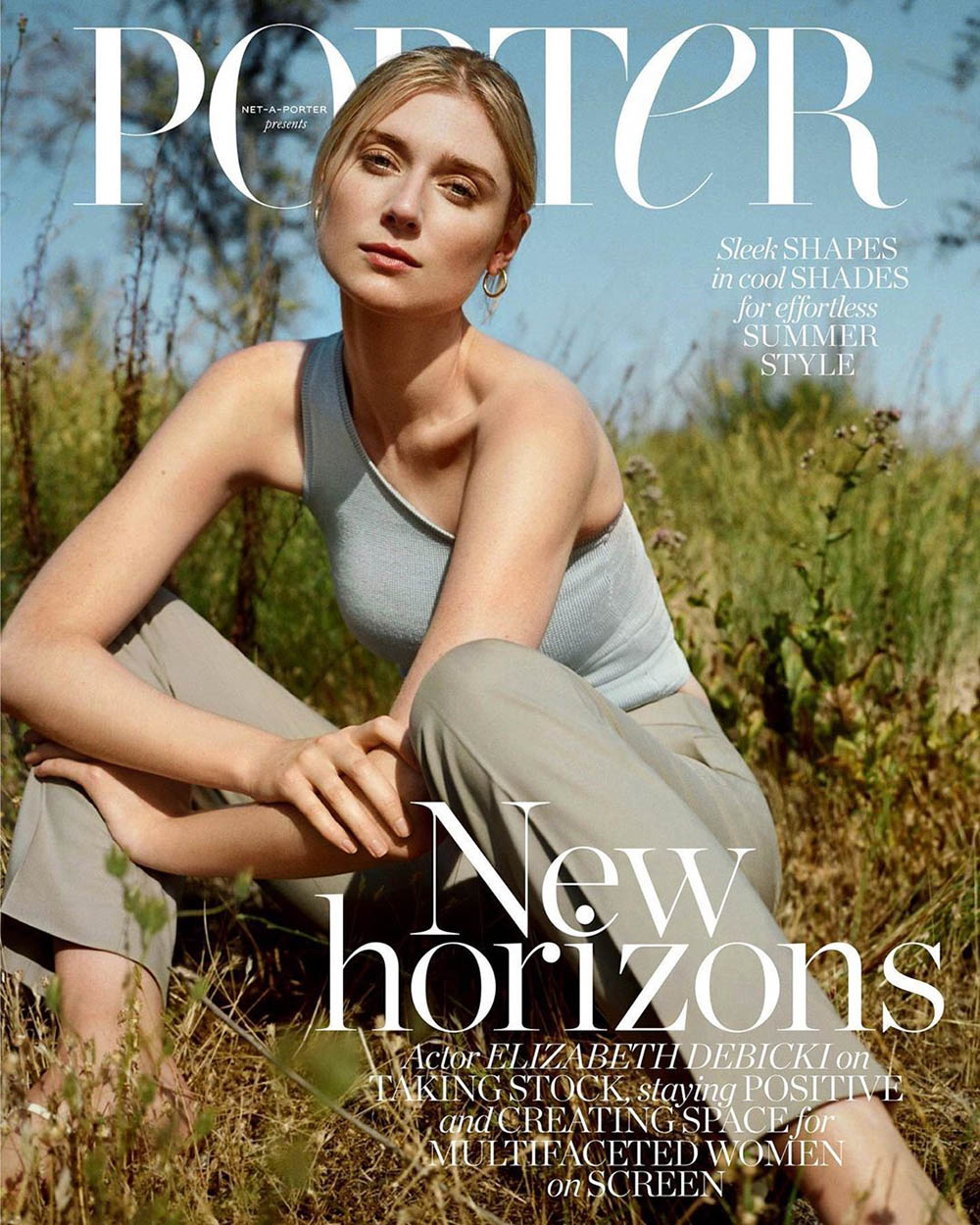 Elizabeth Debicki covers Porter Magazine July 13th, 2020 by Olivia Malone