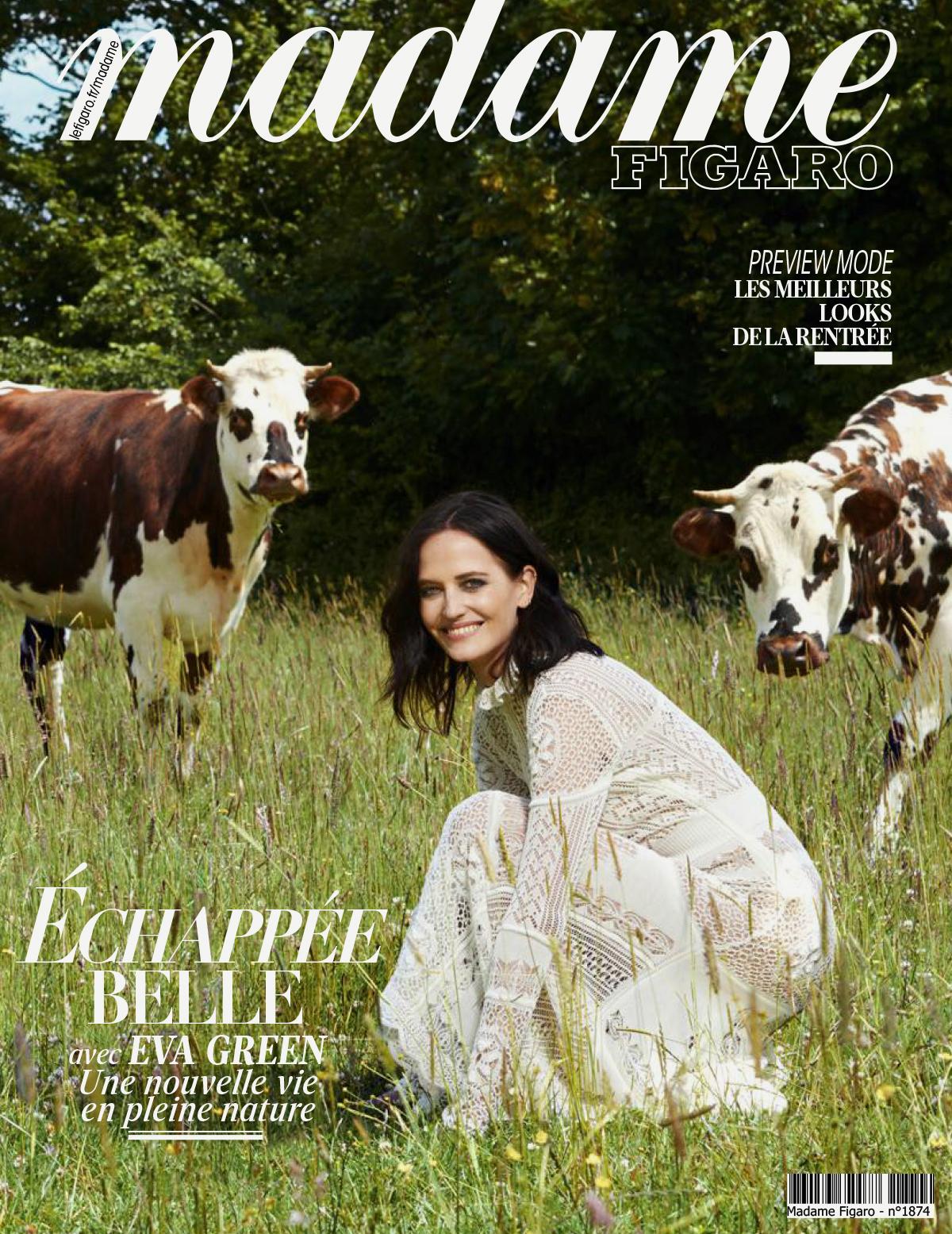 Eva Green covers Madame Figaro July 24th, 2020 by Dant Studio / H&K