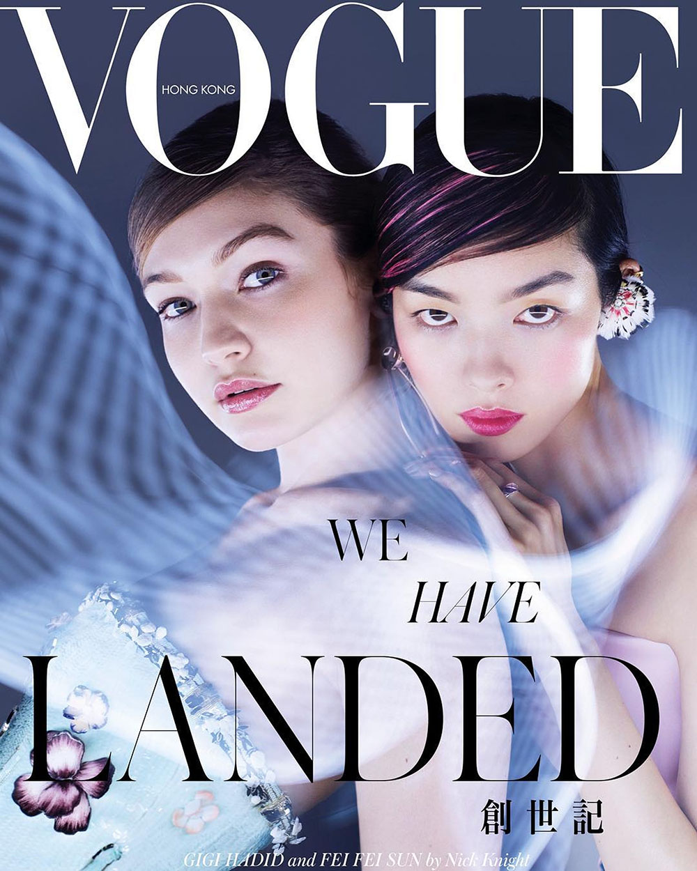 Gigi Hadid and Fei Fei Sun cover Vogue Hong Kong March 2019 by Nick Knight