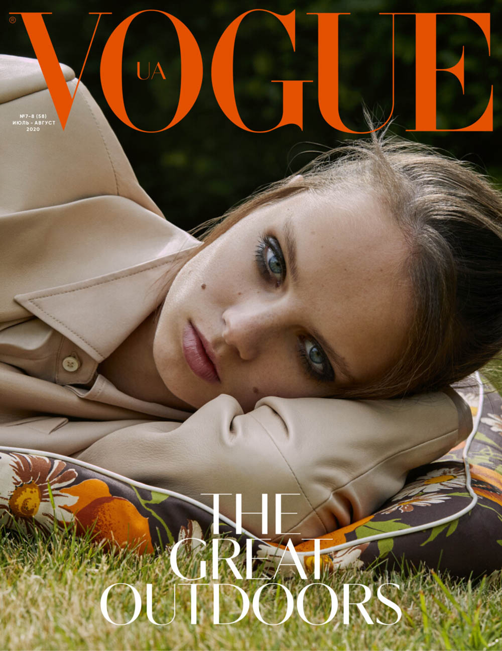 Giselle Norman covers Vogue Ukraine July August 2020 by Leon Mark