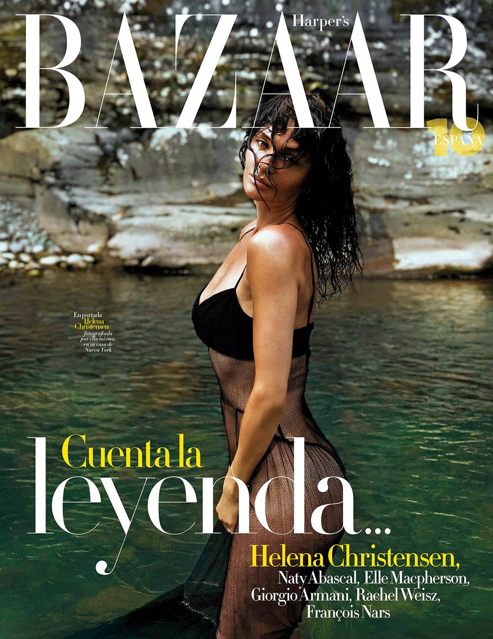 Helena Christensen covers Harper's Bazaar Spain July August 2020 by Helena Christensen