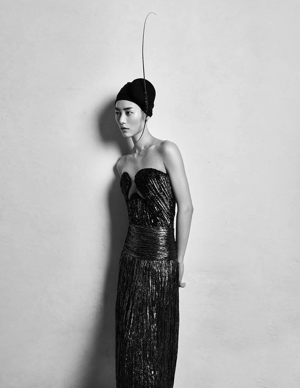 Liu Wen by Yu Cong for Vogue China July 2020