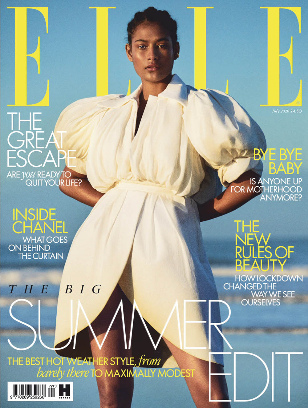Margarita Gambles covers Elle UK July 2020 by Victor Demarchelier