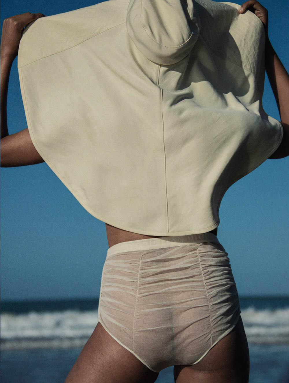 Margarita Gambles covers Elle UK July 2020 by Victor Demarchelier