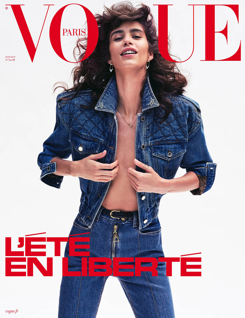 Mica Argañaraz covers Vogue Paris July 2020 by Nathaniel Goldberg