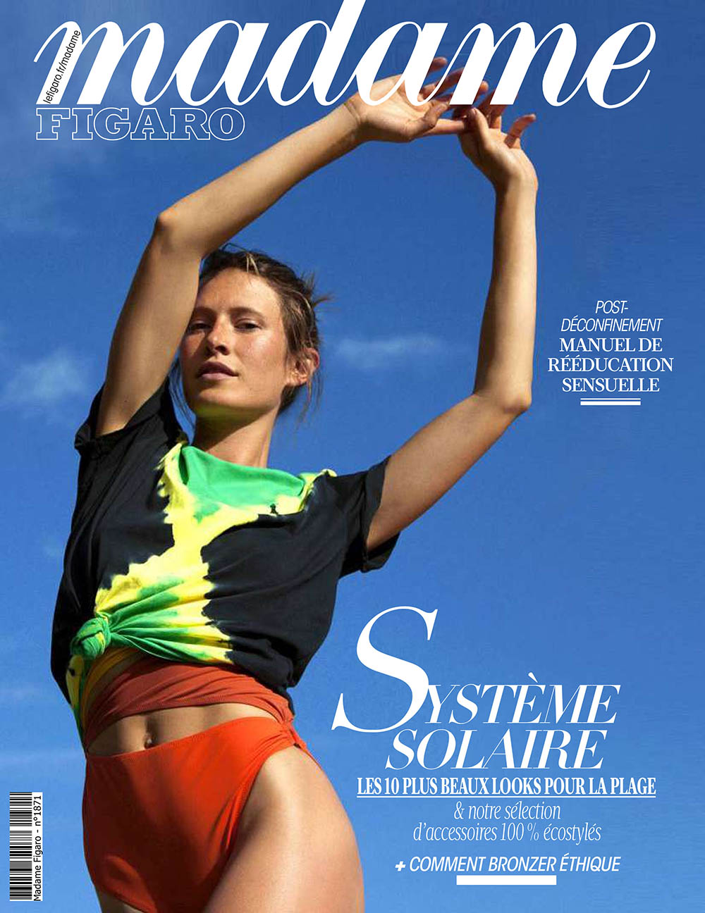 Sophie Strobele covers Madame Figaro July 3rd, 2020 by Paolo Martinez