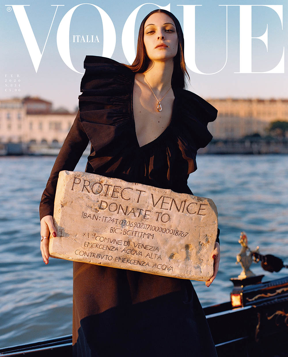 Vittoria Ceretti covers Vogue Italia February 2020 by Oliver Hadlee Pearch
