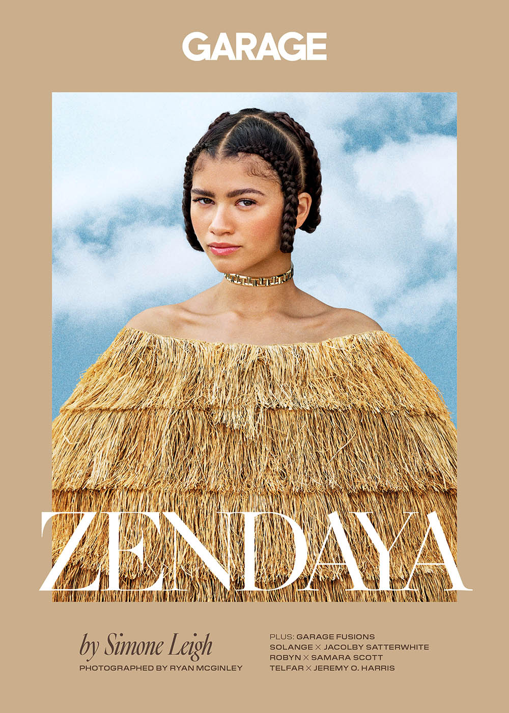 Zendaya covers Garage Magazine Fall Winter 2019 by Ryan McGinley