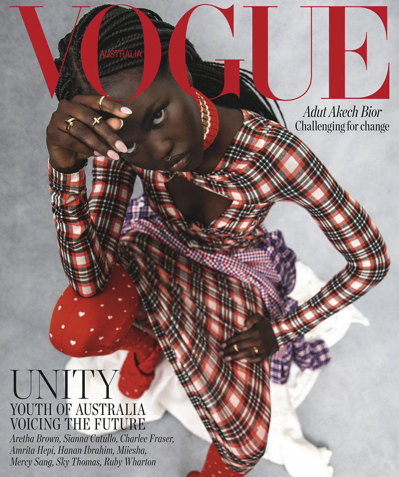 Adut Akech covers Vogue Australia August 2020 by Christine Centenera