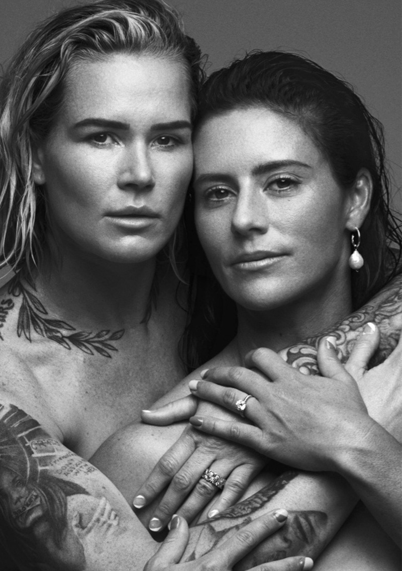 Ali Krieger and Ashlyn Harris cover Allure US August 2020 by Norman Jean Roy