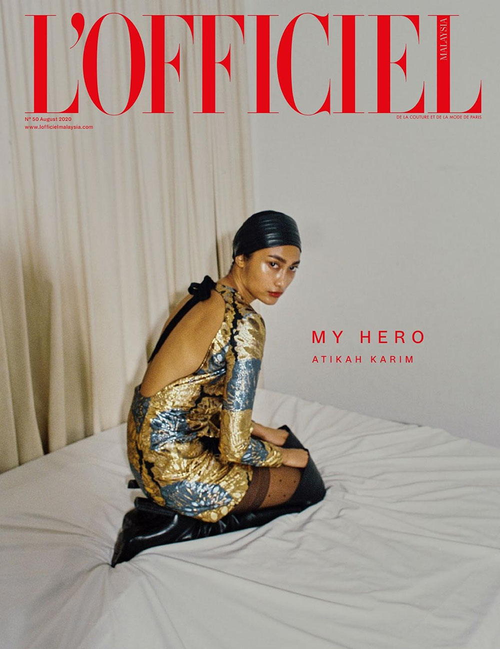 Atikah Karim covers L'Officiel Malaysia August 2020 by Danny Lim