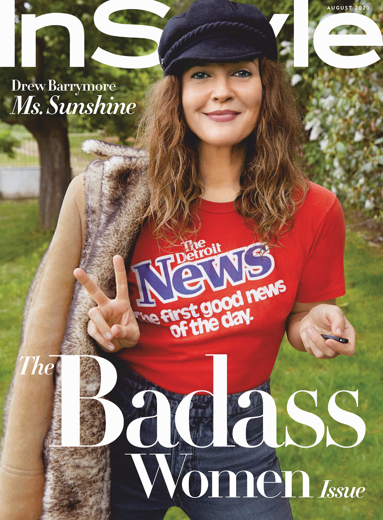 Drew Barrymore covers InStyle US August 2020 by Drew Barrymore