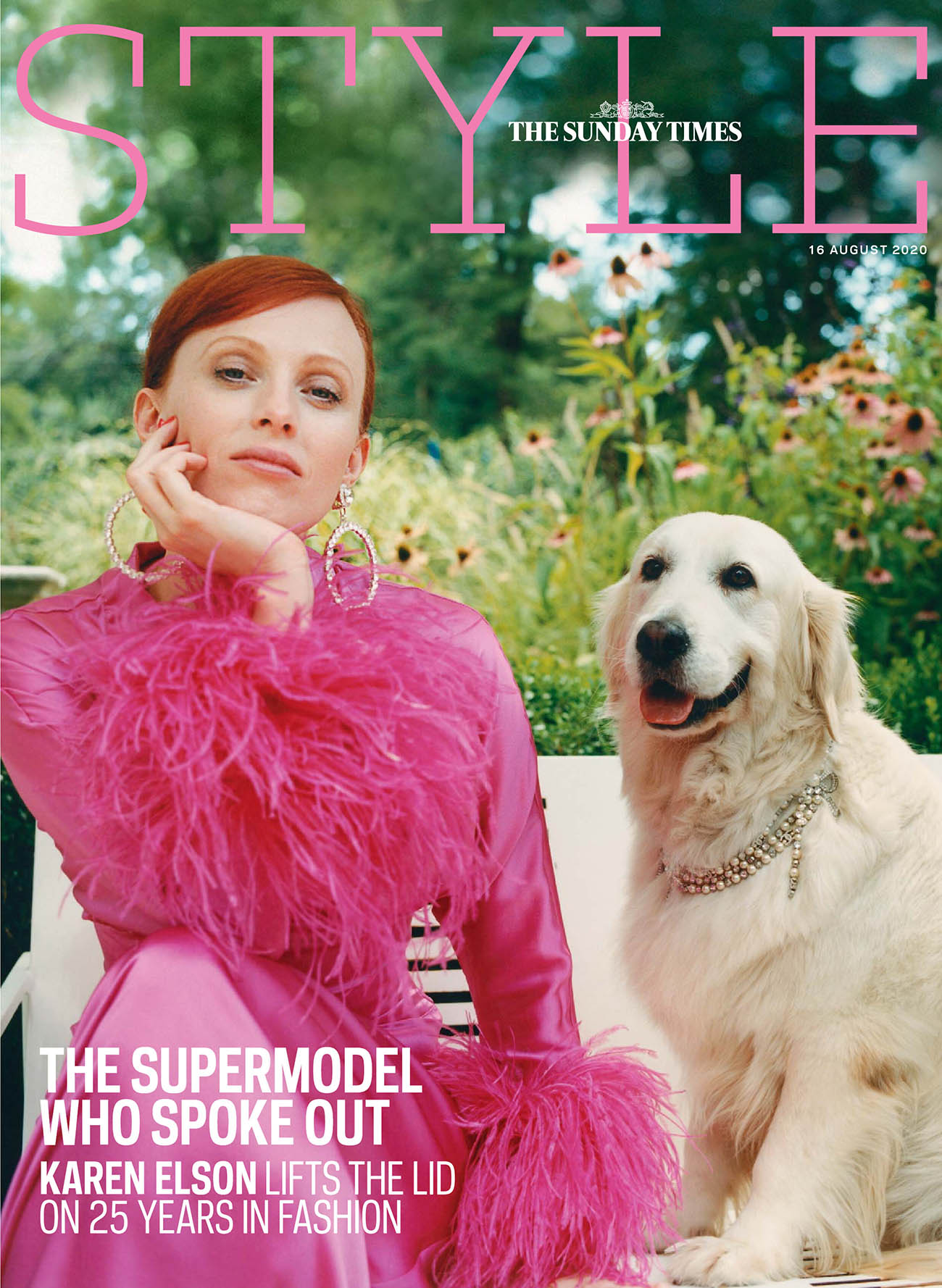 Karen Elson covers The Sunday Times Style August 16th, 2020 by Matthew Followill