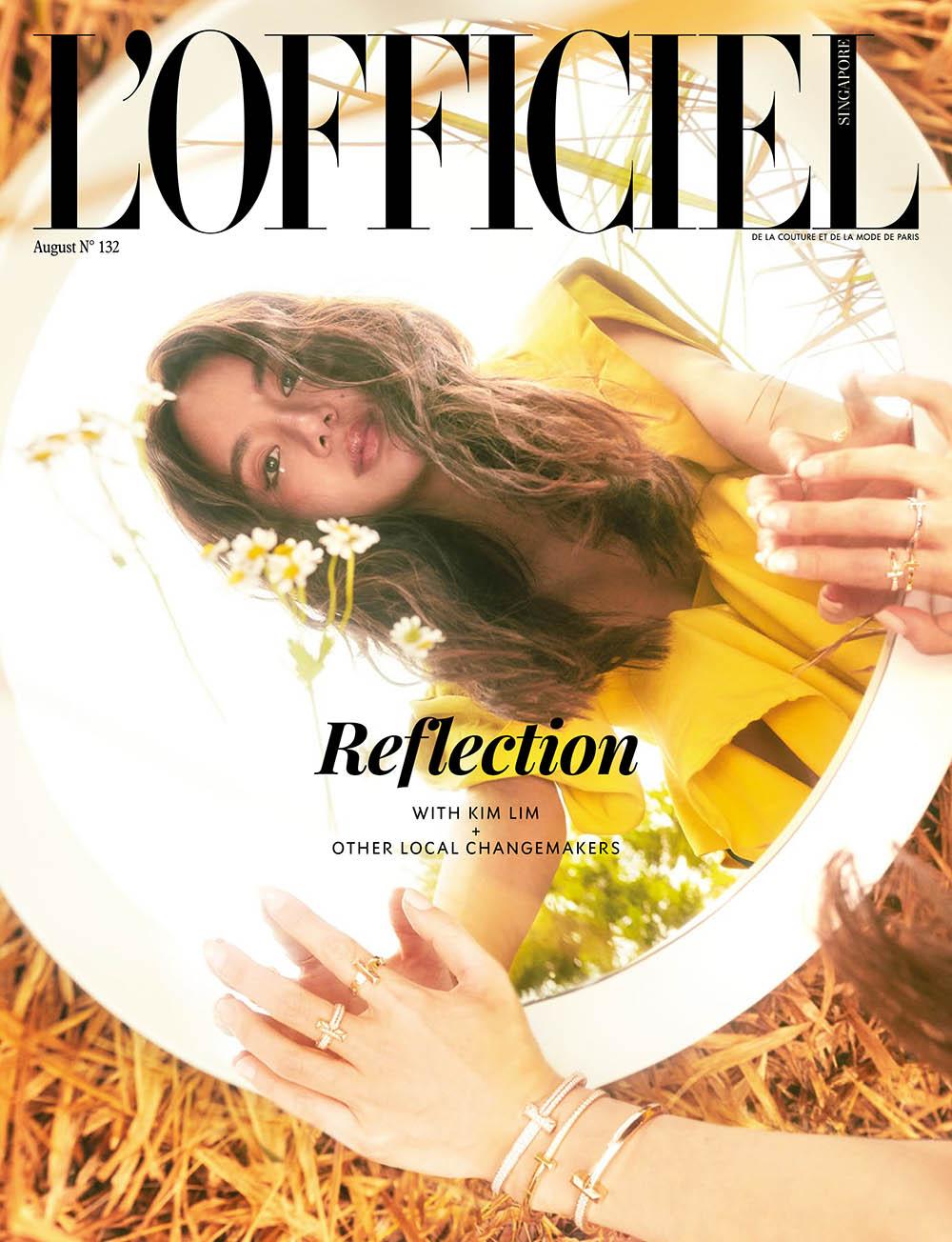 Kim Lim covers L'Officiel Singapore August 2020 by Joel Low