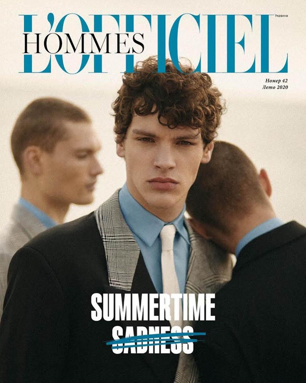 L'Officiel Hommes Ukraine Summer 2020 cover by Victor Santiago