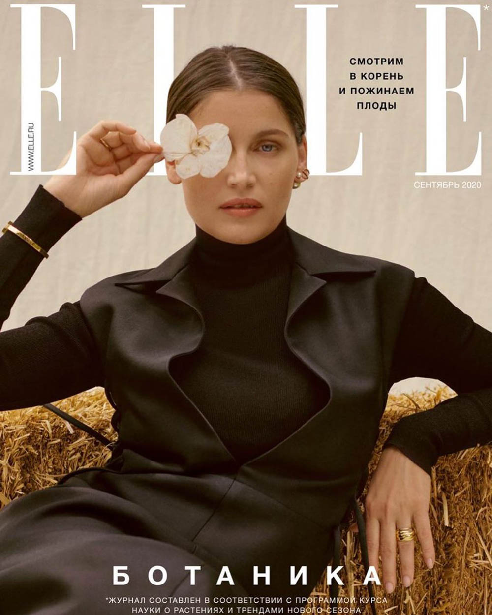 Laetitia Casta covers Elle Russia September 2020 by Studio L'Étiquette