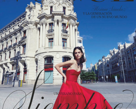 Miriam Sanchez covers Vogue Spain August 2020 by Miguel Reveriego