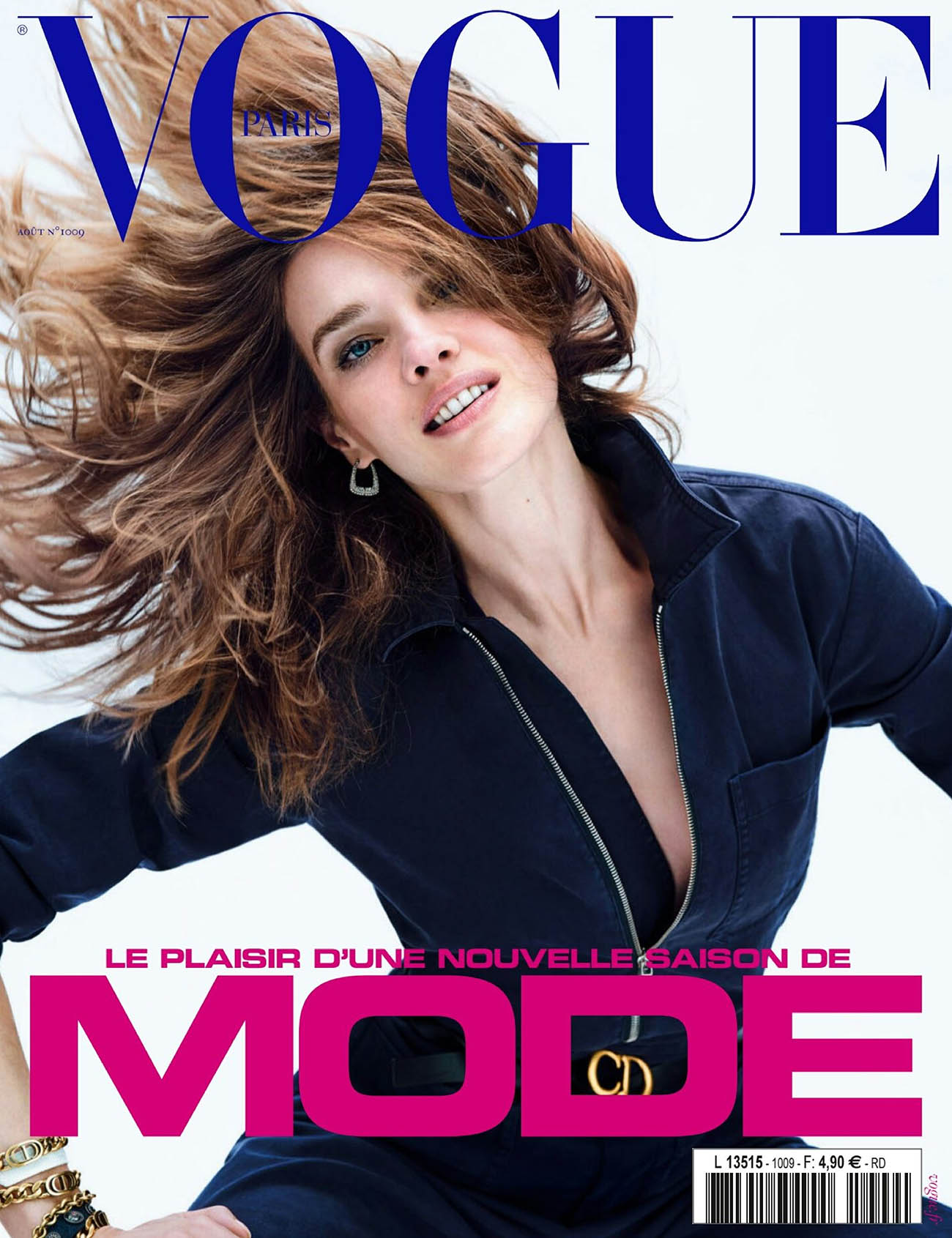 Natalia Vodianova covers Vogue Paris August 2020 by Nathaniel Goldberg