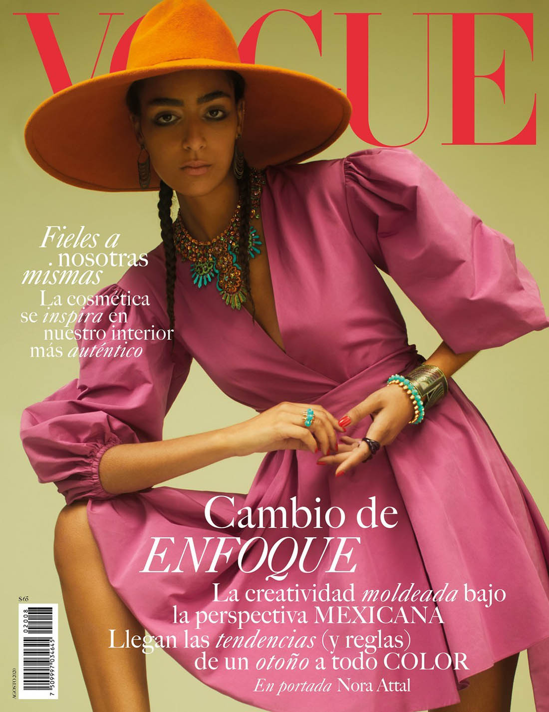 Nora Attal covers Vogue Mexico & Latin America August 2020 by Emma Summerton