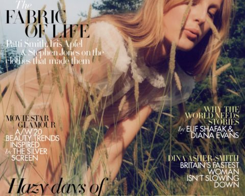 Olympia Campbell covers Harper's Bazaar UK August 2020 by Jesse Jenkins