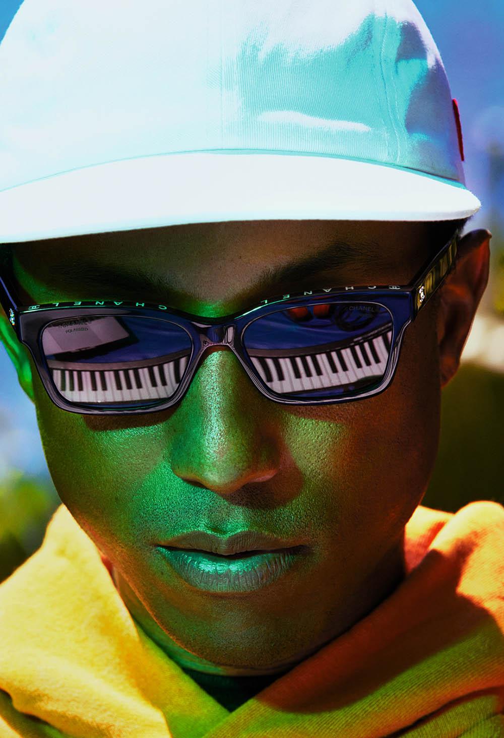 Pharrell Williams covers i-D Magazine Summer 2020 by Mert & Marcus