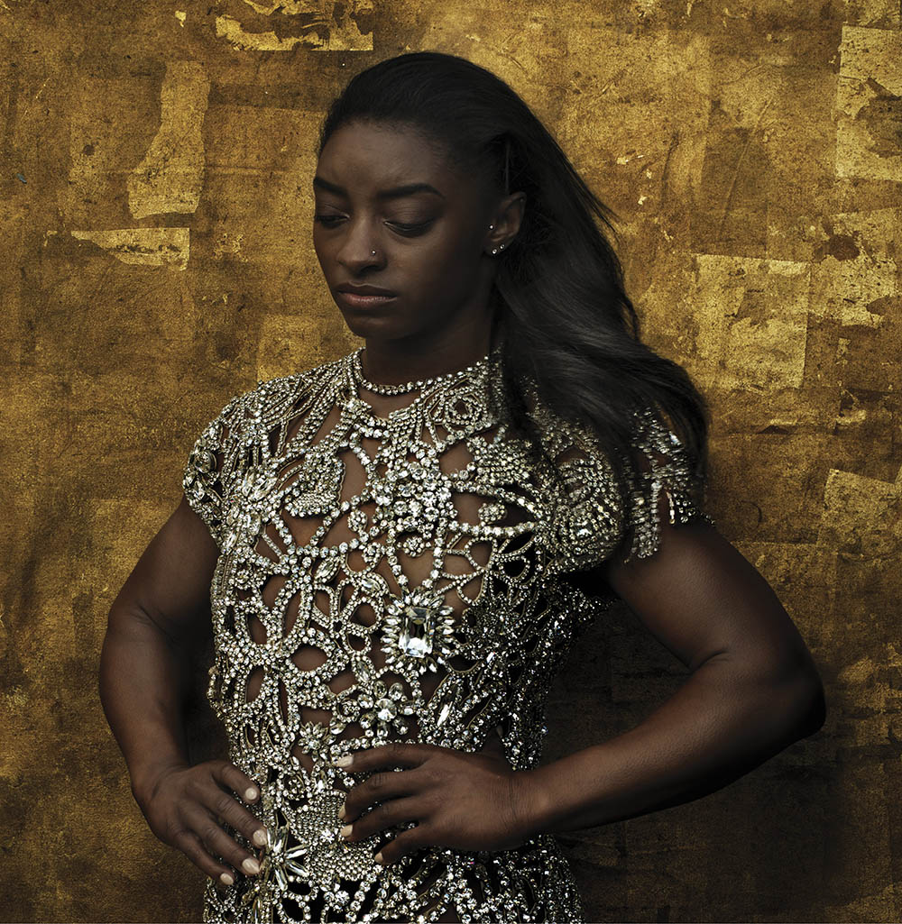 Simone Biles covers Vogue US August 2020 by Annie Leibovitz