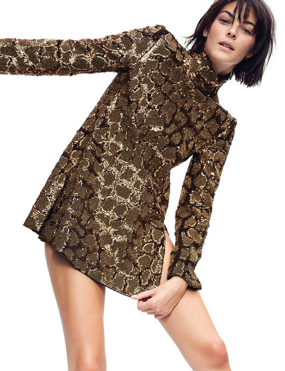 Vittoria Ceretti by Nathaniel Goldberg for Vogue Paris August 2020