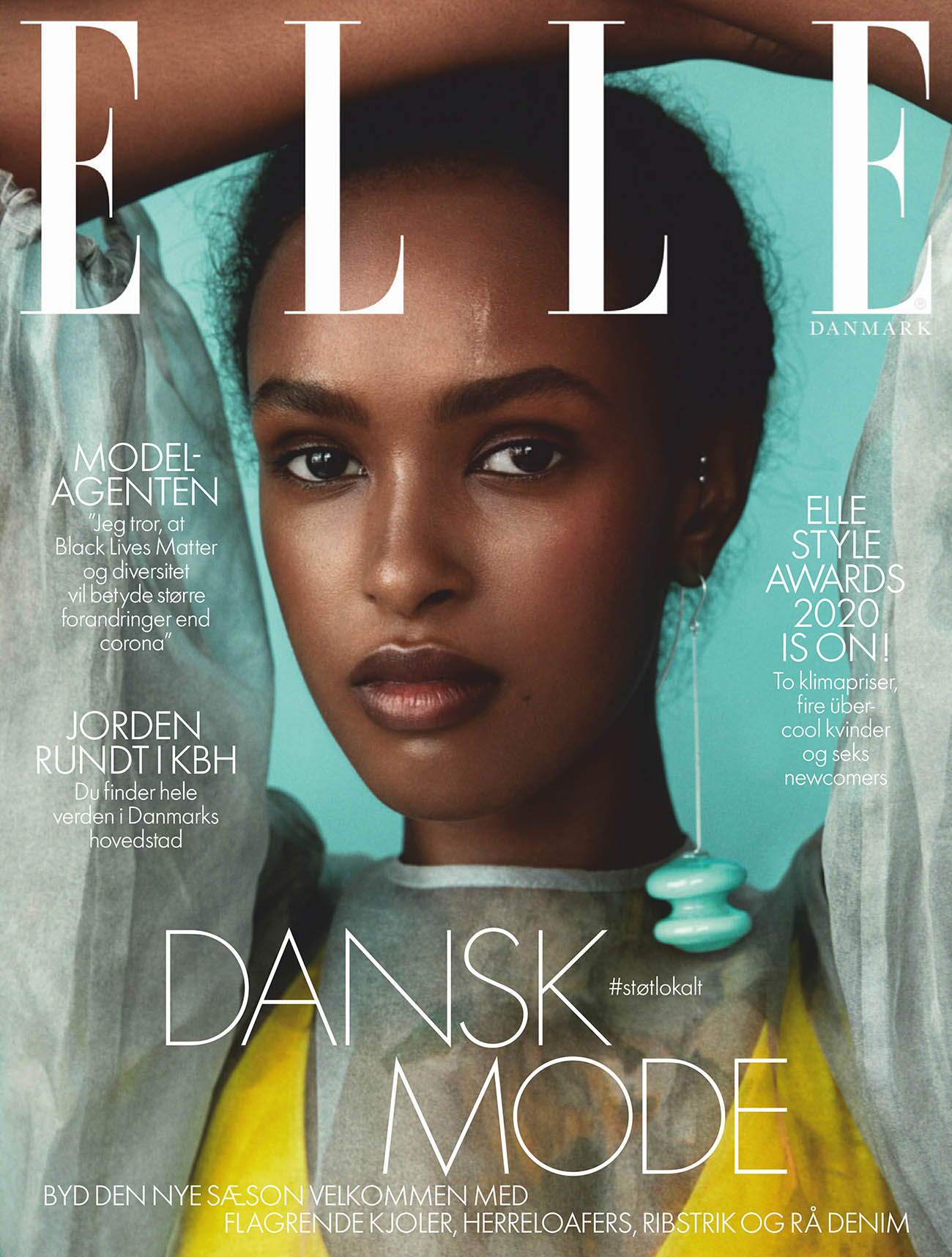 Warsan covers Elle Denmark August 2020 by Dennis Stenild