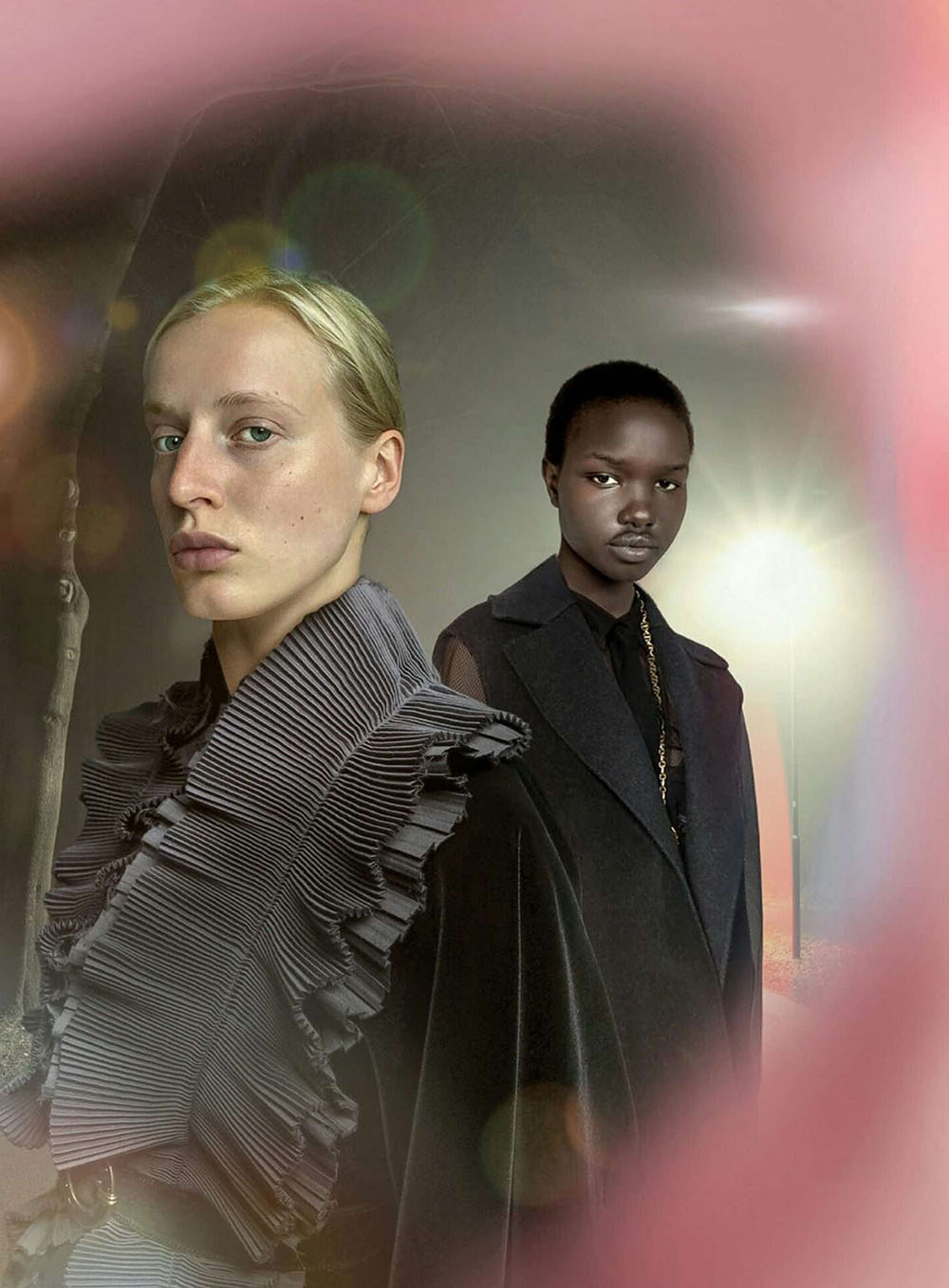 Akon Changkou and Anine van Velzen by Susanne Deeken for Vanity Fair France September 2020