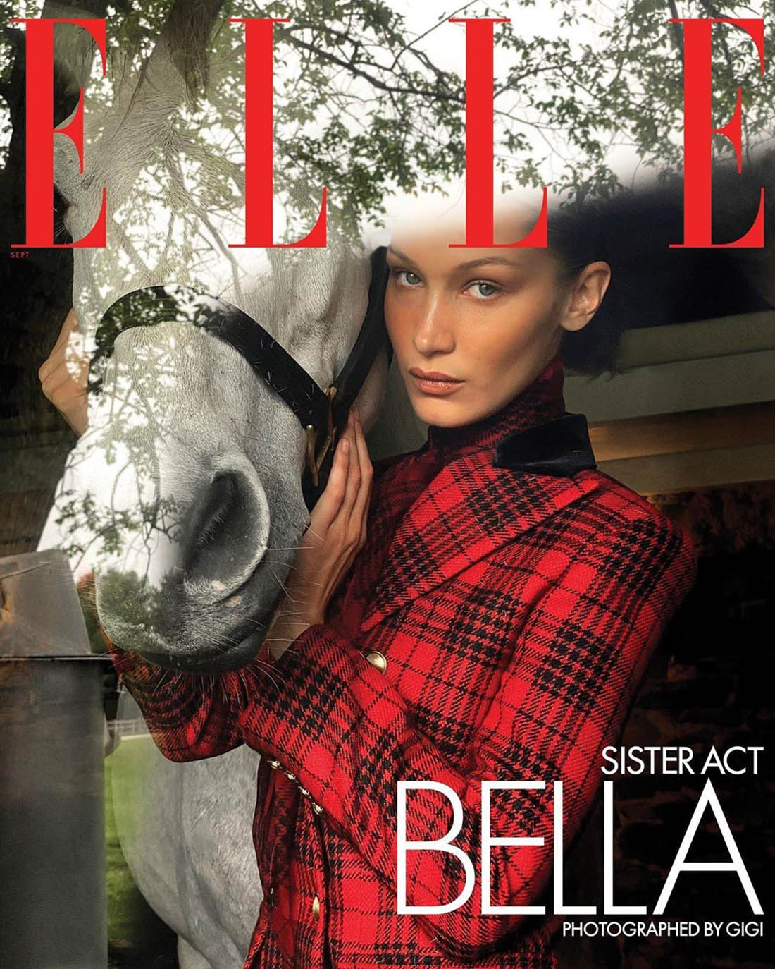 Bella Hadid covers Elle US September 2020 by Gigi Hadid