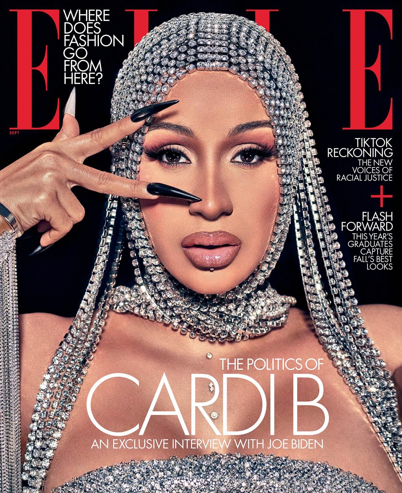 Cardi B covers Elle US September 2020 by Steven Klein