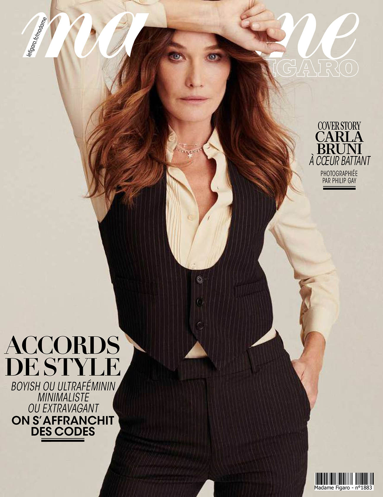 Carla Bruni covers Madame Figaro September 25th, 2020 by Philip Gay