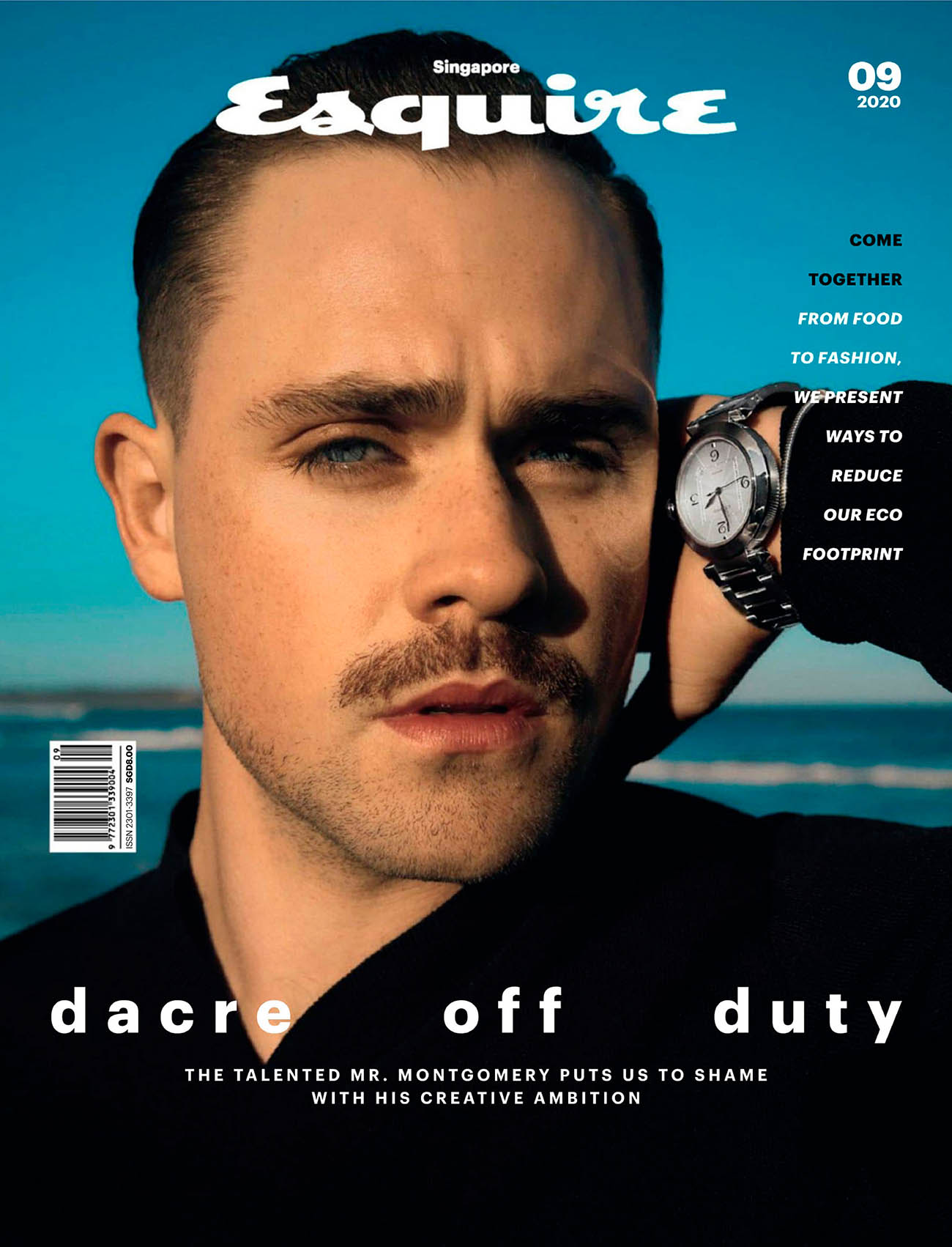 Dacre Montgomery covers Esquire Singapore September 2020 by Levon Baird