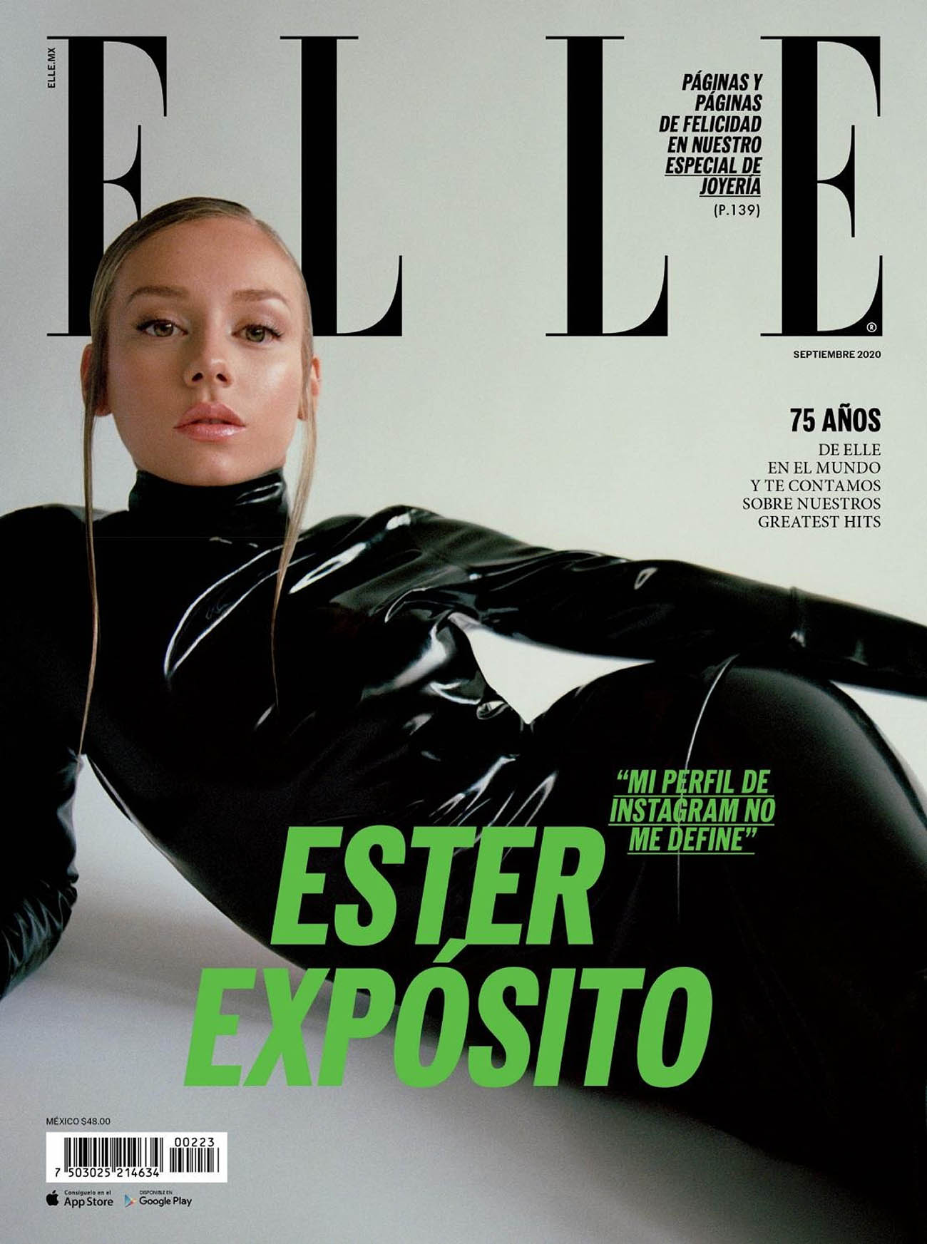 Ester Expósito covers Elle Mexico September 2020 by Pablo Zamora