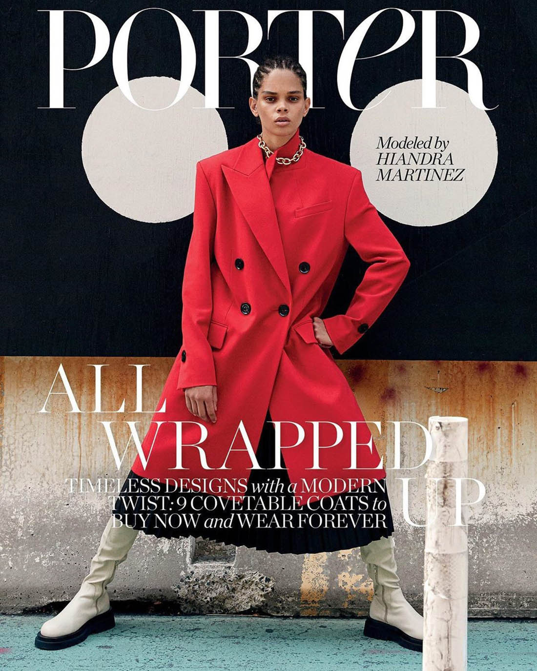 Hiandra Martinez covers Porter Magazine September 7th, 2020 by Yelena Yemchuk