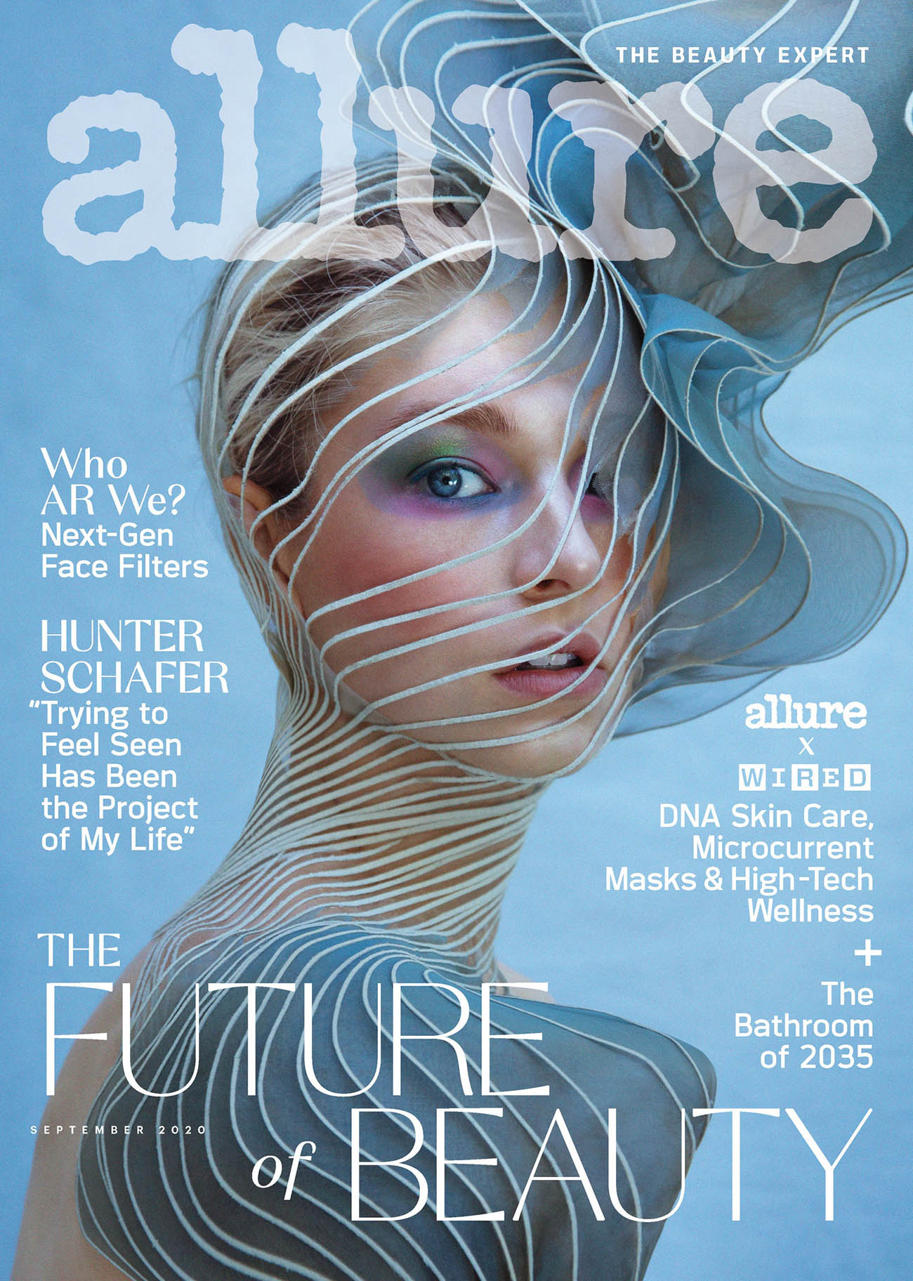 Hunter Schafer covers Allure US September 2020 by Daniella Midenge