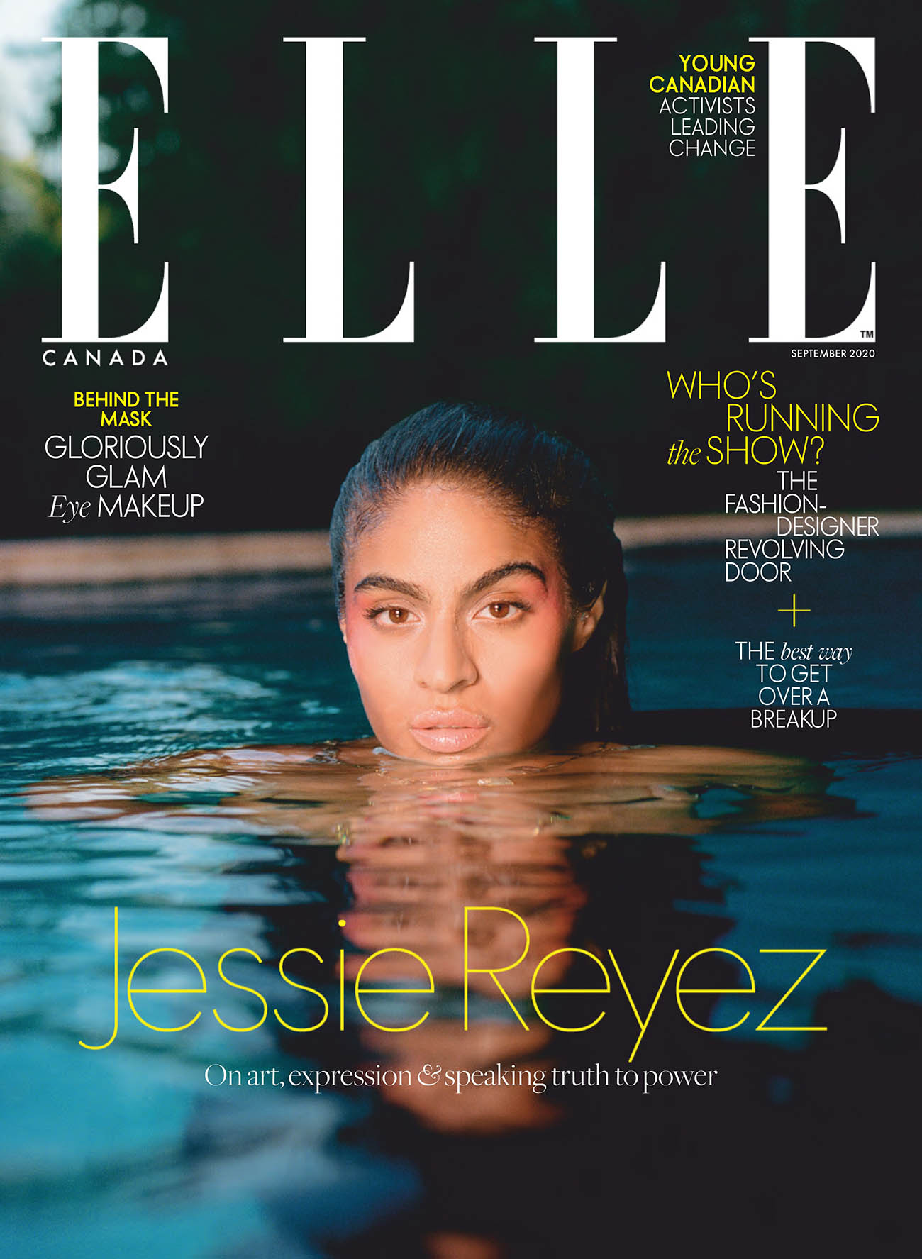 Jessie Reyez covers Elle Canada September 2020 by Leeor Wild