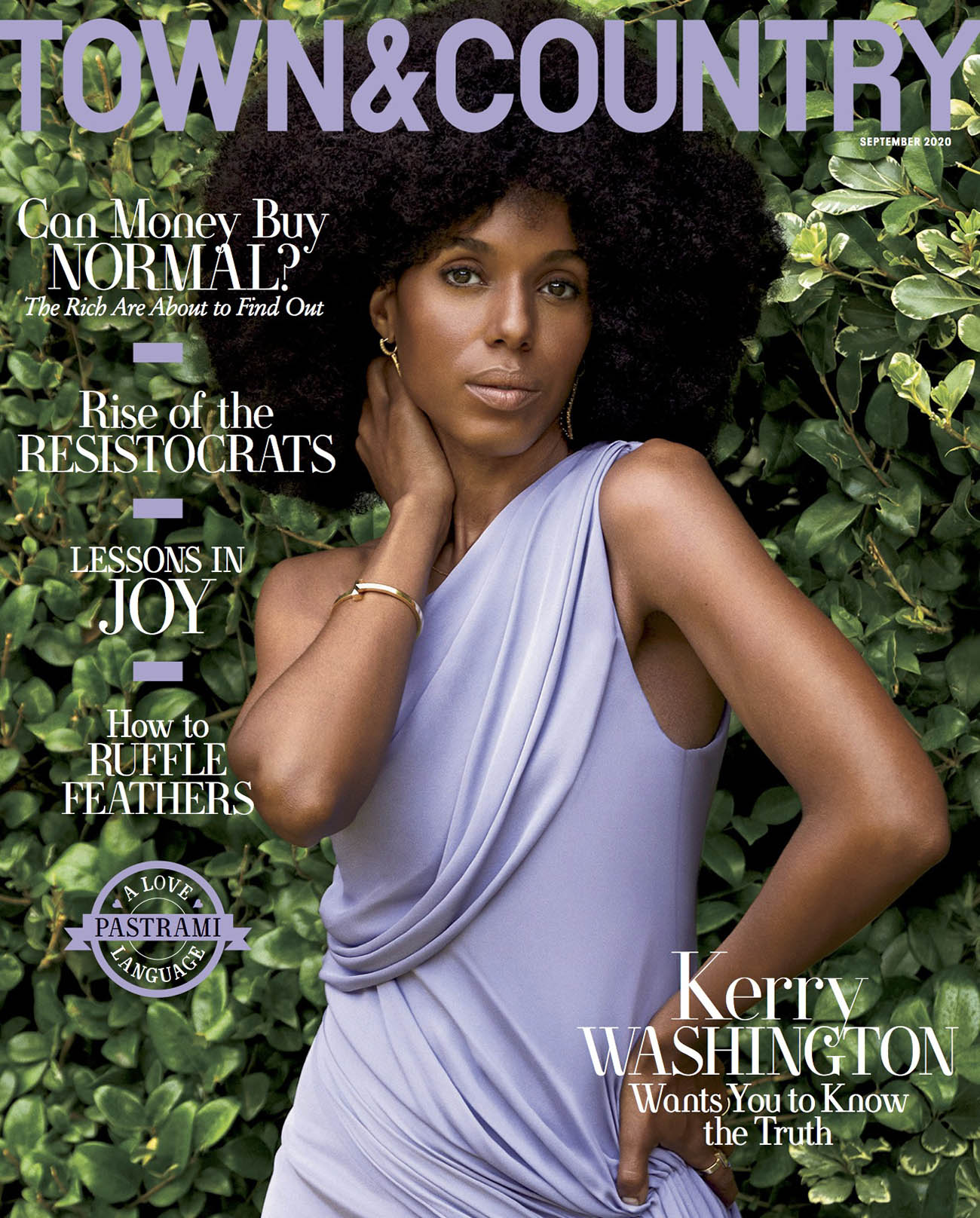 Kerry Washington covers Town & Country September 2020 by AB+DM