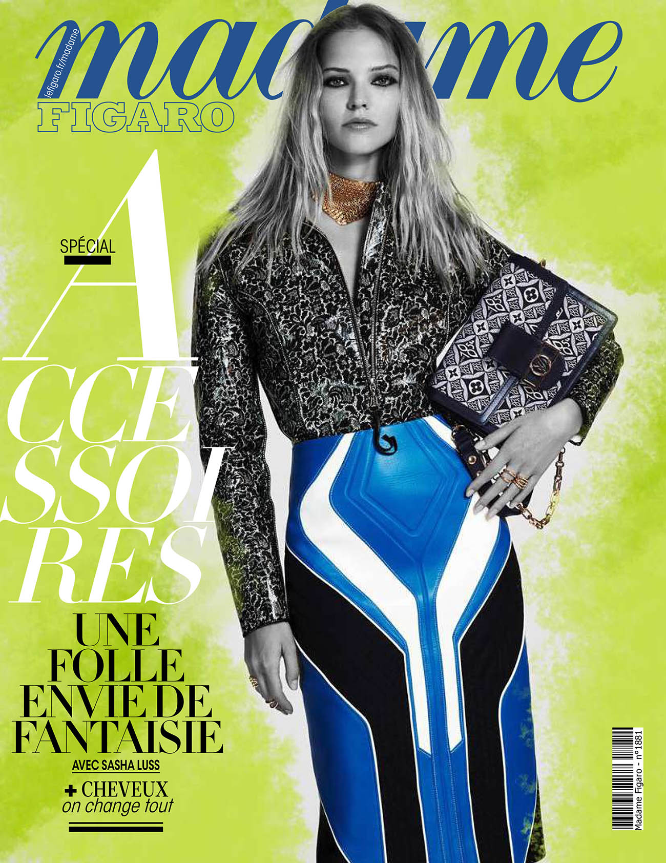 Sasha Luss covers Madame Figaro September 11th, 2020 by Naomi Yang