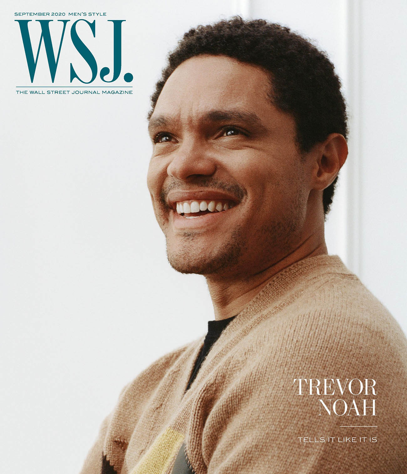 Trevor Noah covers WSJ. Magazine September 2020 Men's Style by Gioncarlo Valentine