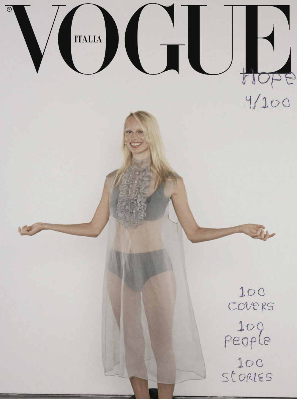 Vogue Italia taps 100 personalities for September 2020 issue