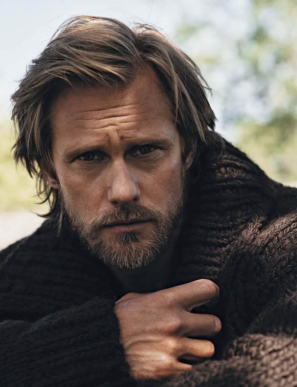 Alexander Skarsgård covers L'Uomo Vogue October 2020 by Johan Sandberg