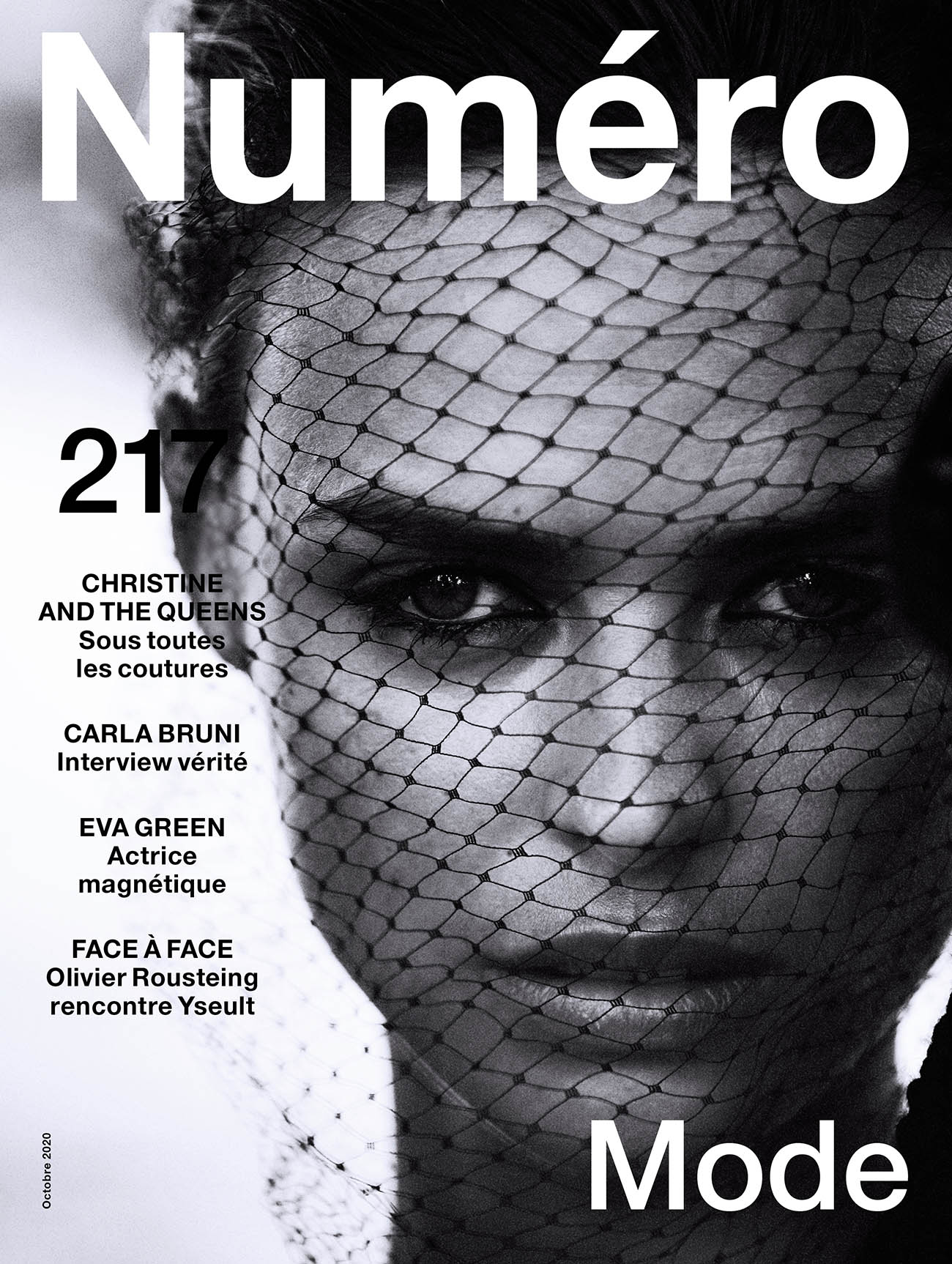 Birgit Kos covers Numéro October 2020 by Boo George