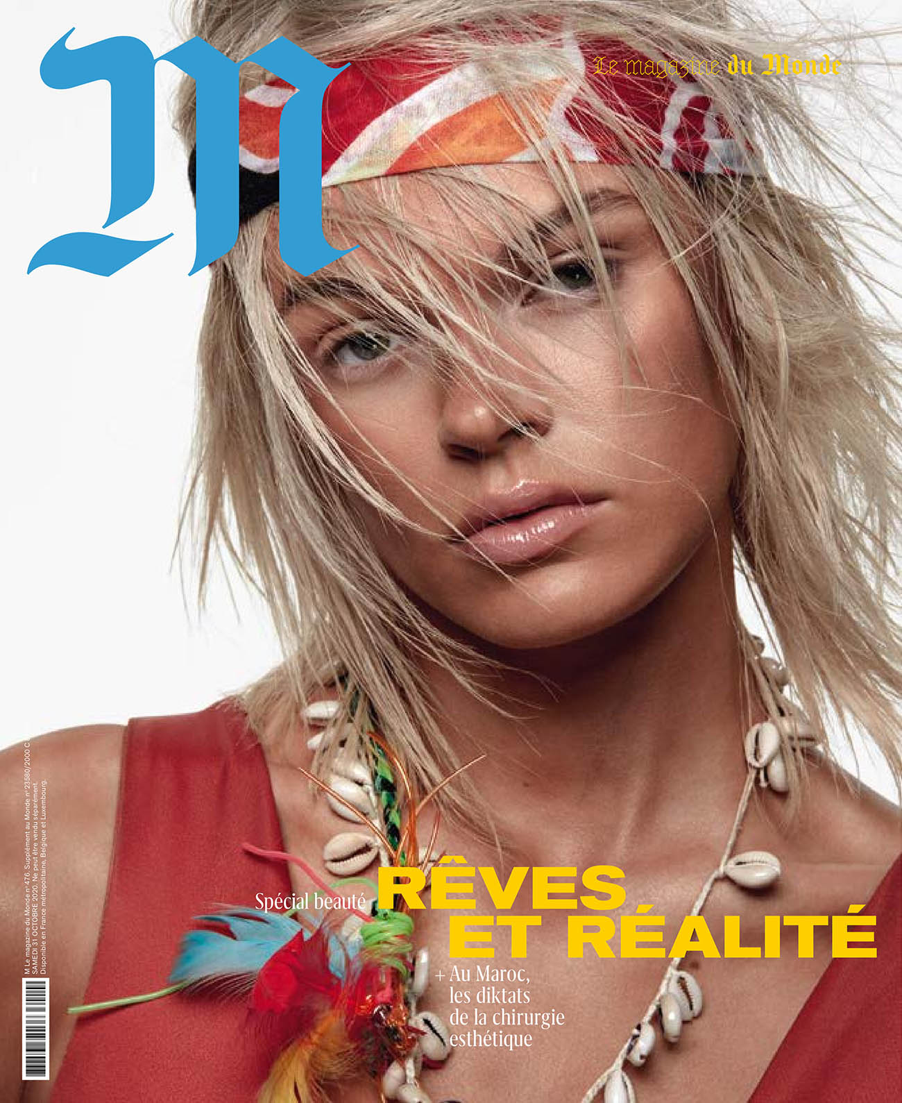 Cara Taylor covers M Le magazine du Monde October 31st, 2020 by Julien Martinez Leclerc