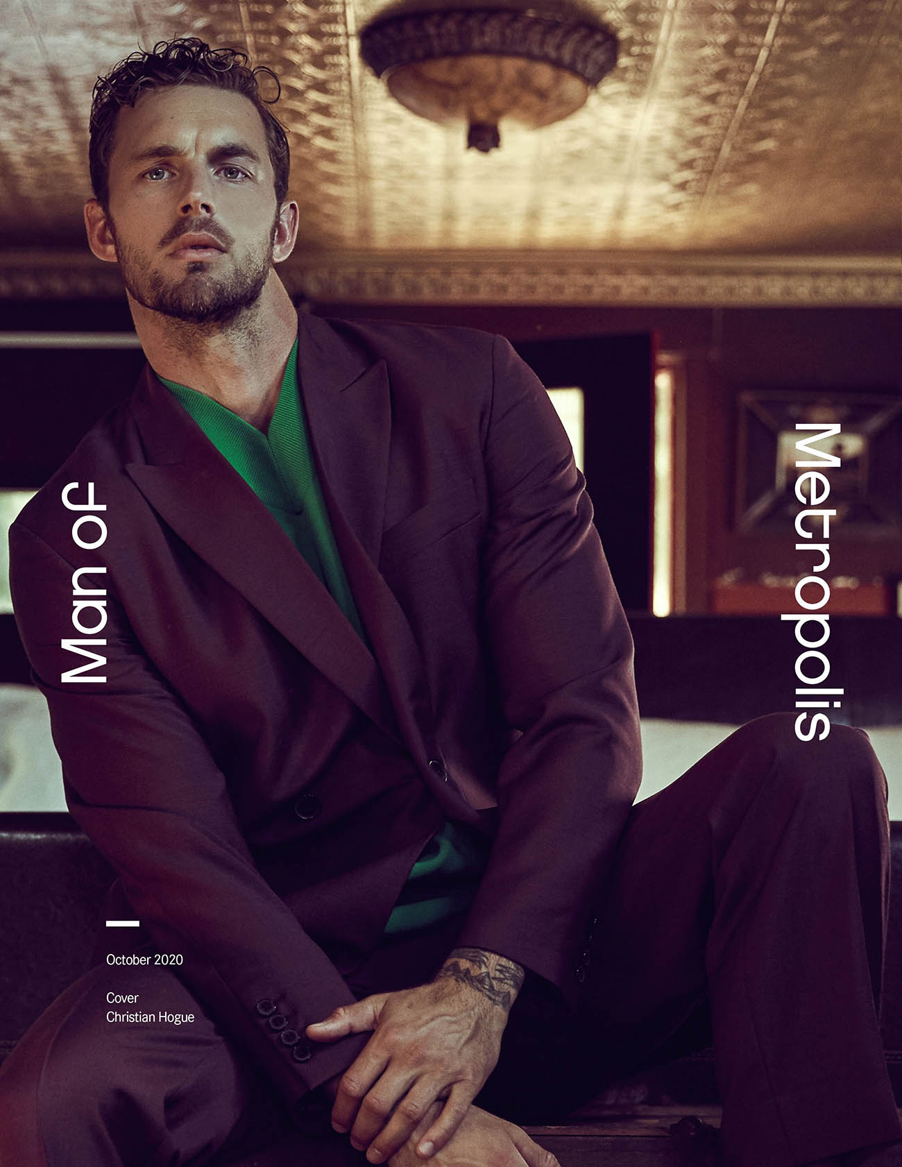 Christian Hogue covers Man of Metropolis October 2020 by Santiago Bisso
