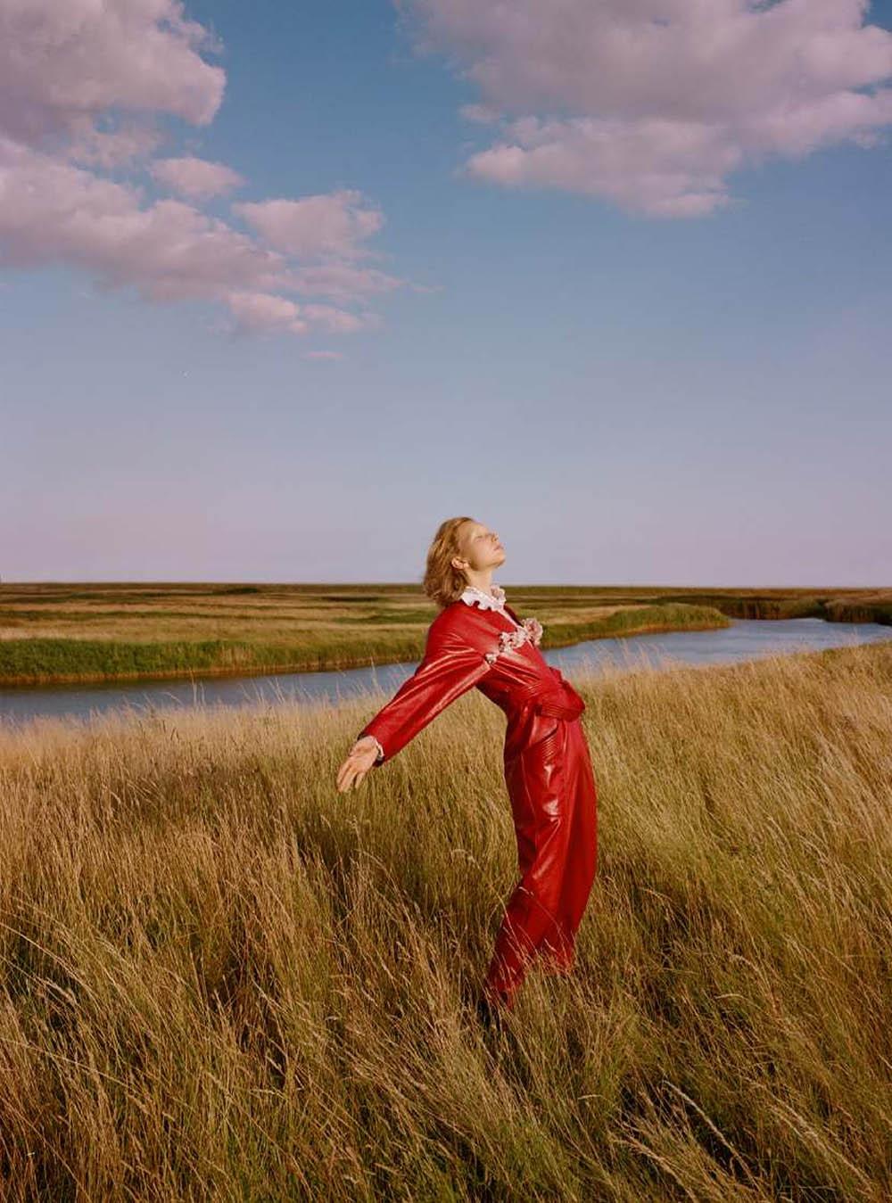 Demy de Vries by Agata Pospieszynska for Harper's Bazaar UK October 2020