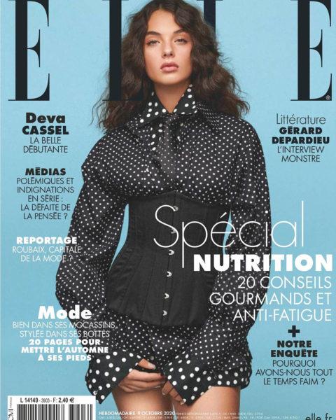 Deva Cassel covers Elle France October 9th, 2020 by Jonas Bresnan